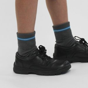 Primary Boys Grey Ankle Socks