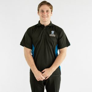 Newman College Boys Black Polo